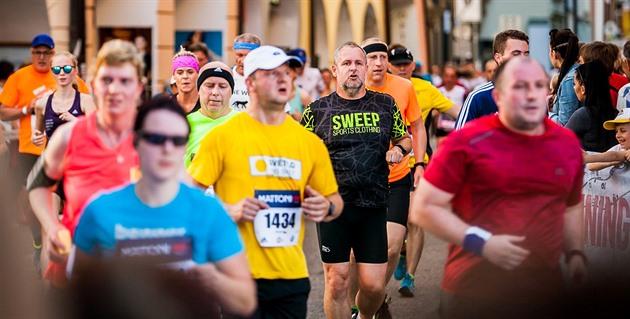 Momentka z českobudějovického půlmaratonu.