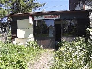 Opuštěný obchod v obci Moldava
