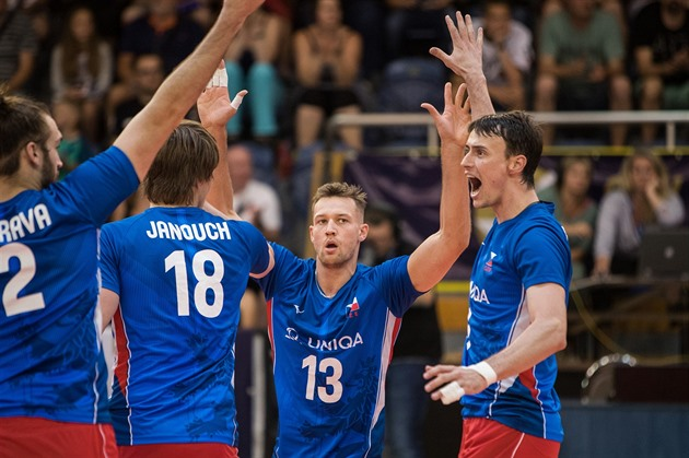 Čeští volejbalisté v přípravě na ME vrátili Slovákům porážku