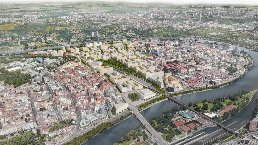 V Bubnech vznikne čtvrť pro 25 tisíc lidí, nabídne park i koncertní síň