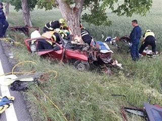 Tragická nehoda u obce Bítov na Berounsku (12. června 2019)