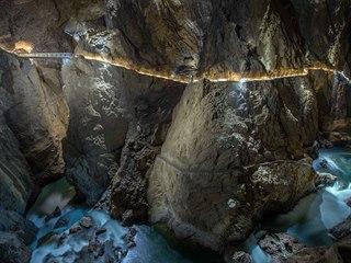 Podzemní kaňon Reky v Šumící jeskyni