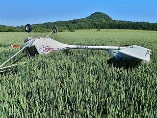 Letadlo skončilo po nouzovém přistání na střeše. (14. června 2019)