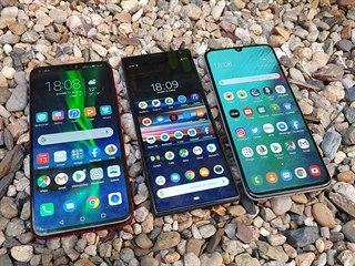 Honor 8X, Sony Xperia 10 Plus a Samsung Galaxy A70