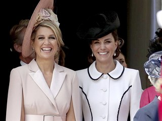 Nizozemská královna Máxima a vévodkyně z Cambridge Kate (Windsor, 17. června...