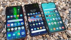 Honor 8X, Sony Xperia 10 Plus a Samsung Galaxy A70
