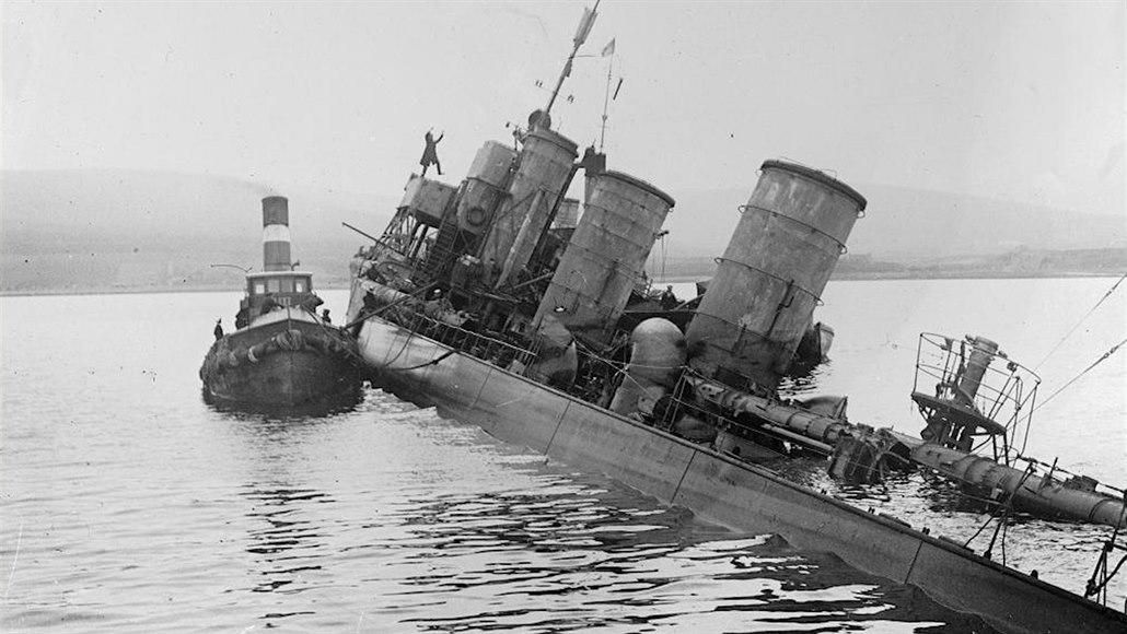 Před 100 lety si Němci sami potopili internované loďstvo
