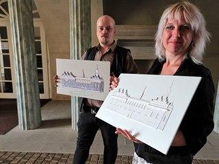 David Linek a Zuzana Landsingerová, autoři modelů s matricí (vlevo) a modelem...