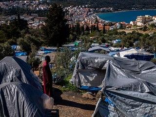 Uprchlický tábor na řeckém ostrově Samos (25. března 2019)