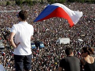 Demonstrace za nezávislost justice a lepší vládu, kterou na pražské Letné...