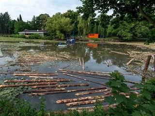 V Pardubicích začalo odbahňování Matičního jezera.