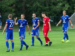 Momentka z přípravného utkání mezi Olomoucí a Vítkovicemi.