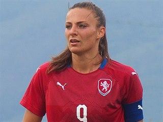 Kapitánka české fotbalové reprezentace žen Lucie Voňková.