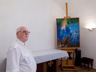 Na snímku Stanislav Kubín, který se na uvedení výstavy podílel.