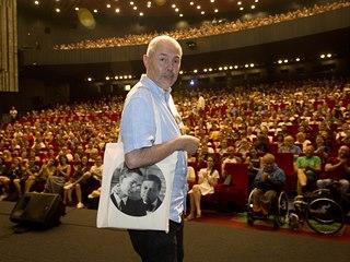 Moderátor Marek Eben uvedl 29. června 2019 zrestaurovaný film Spalovač mrtvol...