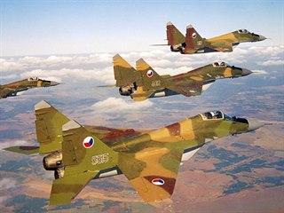 Sovětský proudový stíhací letoun Mig-29 ve výzbroji československého letectva
