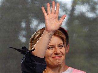 Slovenská prezidentka Zuzana Čaputová na koncertě nazvaném Zuzana není sama...