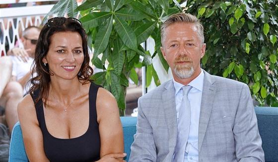 Adéla Gondíková a Jiří Langmajer (Karlovy Vary, 5. července 2019)