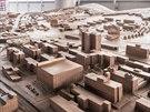 Bronzový model města o rozměrech 5 krát 3 metry je umístěný na terase...