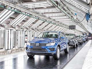 Výroba Volkswagenu Touareg v bratislavské továrně koncernu VW