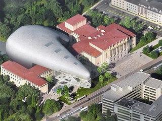 Vítězný návrh prestižního amerického studia na podobu koncertní síně v Ostravě.