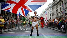 Participants take part in the annual Pride in London parade, in London, Britain...