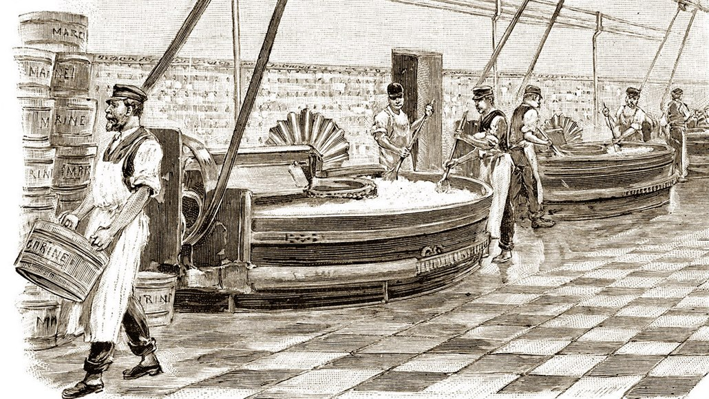 Základem margarínu, náhražky másla pro námořníky, byl původně hovězí lůj