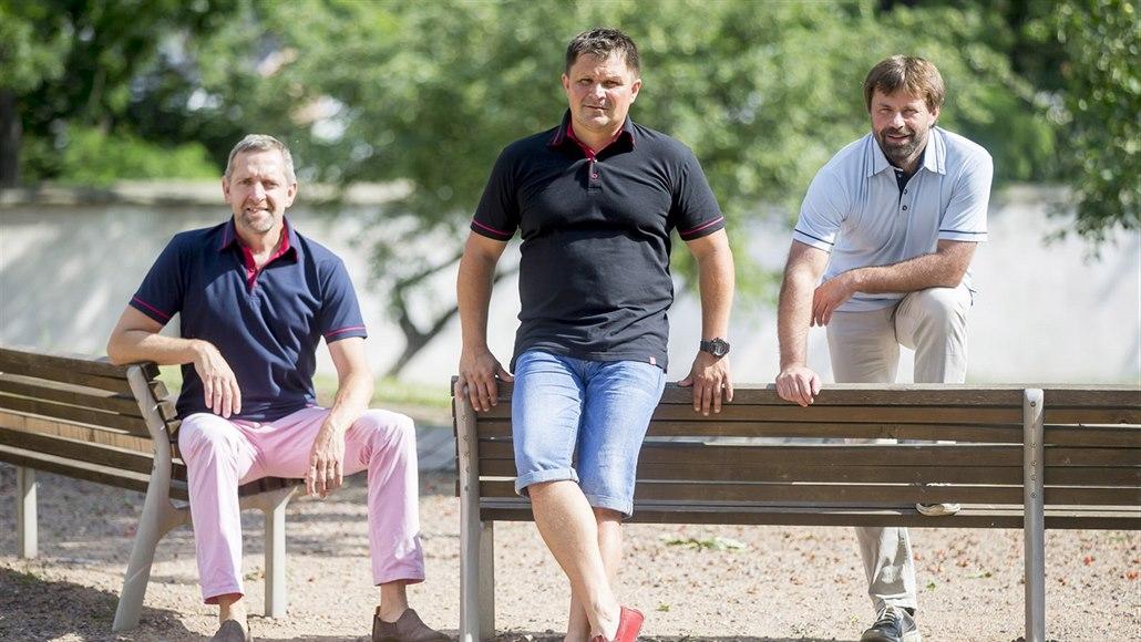 Pavel Hrstka (zleva), Martin Burkoň a René Němeček z chrudimské firmy CityZen