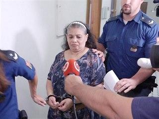 Obžalovaná Soňa K. u Obvodního soudu pro Prahu 3 (16. 7. 2019)