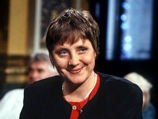 Německá kancléřka Angela Merkelová v mládí (2. července 1992)