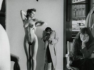 HELMUT NEWTON (1920-2004), Self Portrait with Wife and Models, Paris 1981