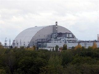 Nový kryt nad IV. reaktorem černobylské elektrárny stojí již od listopadu 2016:...