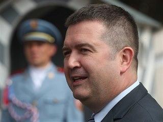 Předseda ČSSD Jan Hamáček na setkání v Lánech s prezidentem Milošem Zemanem a...