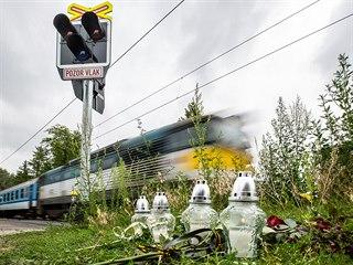 Přejezd v Černožicích (15.7.2019).