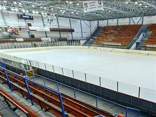Zimní hokejový stadion v Uherském Hradišti.