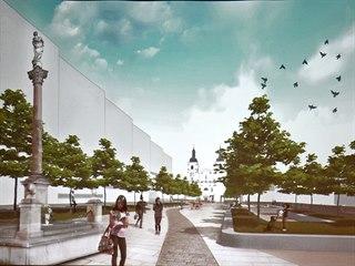 Jedna z možných podob proměny Mariánského náměstí v Uherském Brodě, kterou...