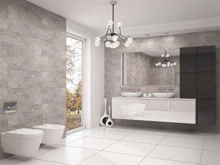 Dvířka koupelnového nábytku z Glaxxu jsou mnohem lehčí, než kdyby byla ze skla,...