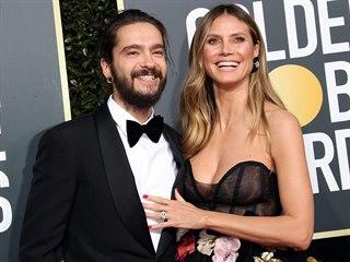 Tom Kaulitz a Heidi Klumová (Beverly Hills, 6. ledna 2019)