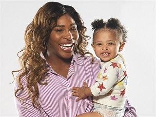 Serena Williamsová s dcerou Alexis Olympií (9. dubna 2019)