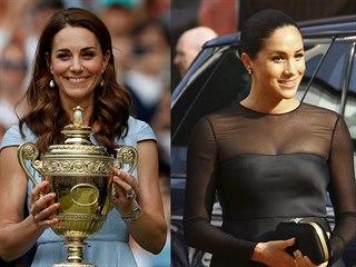 Vévodkyně Kate na mužském finále Wimbledonu a vévodkyně Meghan na evropské...