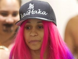 Rapperka Cardi B Cardi B receives a traditional Maori welcome as she arrives in...