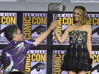 Herečka Natalie Portmanová na festivalu Comic-Con (21. 7. 2019)