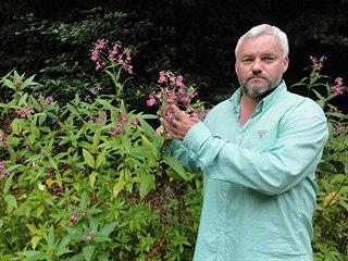 Netýkavka žláznatá likviduje ostatní rostliny a stahuje na sebe hmyz.