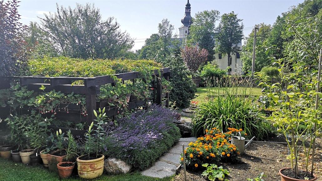 Zahrada v Podkrušnohoří, s láskou vydupaná z kamení a bojující se suchem