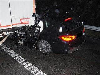 Na dálnici D1 v noci na úterý havaroval dvaačtyřicetiletý řidič osobního...