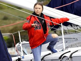PŘES ATLANTIK NA JACHTĚ: Švédská ekologická aktivistka Greta Thunbergová si...