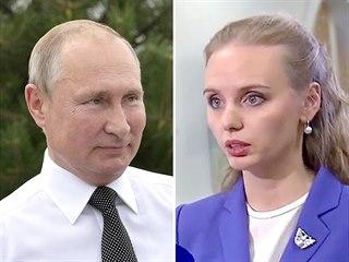 Ruský prezident Vladimir Putin a jeho starší dcera Marija Voroncovová