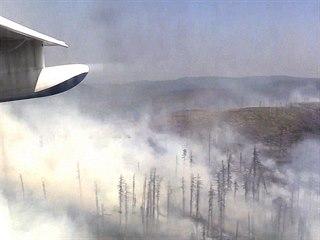 Lesní požáry v Krasnojarském kraji na východě Ruska (7. srpna 2019)