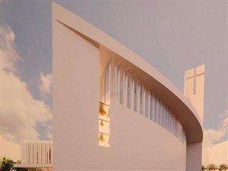 Tým okolo architekta Jana Soukupa navrhl líšeňský kostel ve tvaru lodě, která...