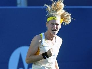 Marie Bouzková v semifinále turnaje v Torontu.